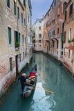 Gondolero veneciano, Venecia Italia Foto de archivo