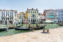 Gondoleros venecianos Imagen de archivo libre de regalías