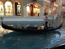 Gondoles à l'hôtel vénitien Photos libres de droits