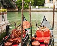 Gondoles à Venise Image libre de droits