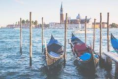 Gondoles à Venise Images libres de droits