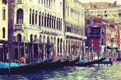 Gondoles dans Venezia Photo libre de droits