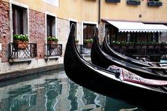 Gondoles dans Venezia photo stock