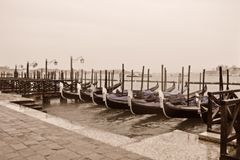 Gondoles sur la mer du ‹d'†de ‹d'†la lagune de Venise, Italie Photo libre de droits