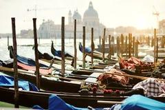 Gondoles vénitiennes Photographie stock