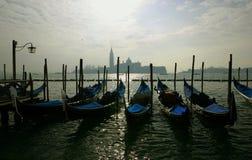 Gondoles in Venedig Stockfoto