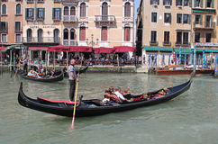 Gondoles, Venise, Italie Photo stock