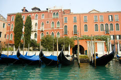 Gondoles - Venise - Italie Images libres de droits