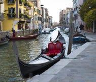 Gondolfartyg i Venedig Royaltyfri Bild