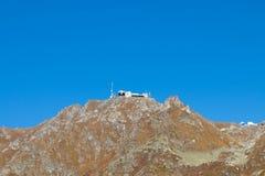 Gondoli dźwignięcia stacyjnego domu terminus halna przerwa Verbier Switzerland obrazy stock