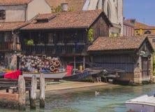 Gondoli Dockyard w Wenecja Fotografia Stock