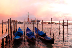 gondoli Italy zmierzch Venice Obrazy Stock