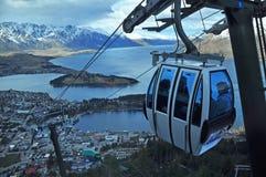 gondoli nowa Queenstown linia horyzontu Zealand obraz royalty free