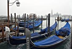 Gondolias di Venezia fotografie stock libere da diritti