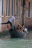 gondolier Ιταλία Βενετία Στοκ Φωτογραφία