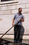 gondolier гондолы Стоковое Изображение