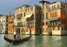 Gondolier. In Venice Royalty Free Stock Images