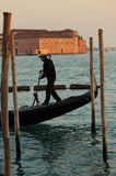 Gondolier Images stock