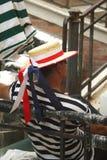 Gondolier Image stock