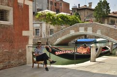 gondolier Photos stock