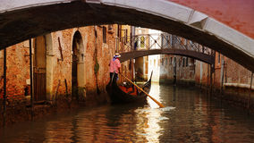 Gondolier in the boat in Venice, Italy Stock Photo