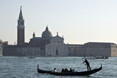 Gondolier de Veneza imagem de stock royalty free