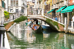 Gondolier em Veneza Imagem de Stock