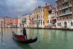 Gondolier. Royalty Free Stock Image