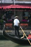 Gondolier,Italy,Venice. Gondolier on the grand Canal.Venice royalty free stock image