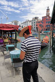 Gondolier on the pier. Stock Photography