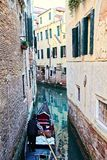 Gondolier on a Venice Canale Royalty Free Stock Photography