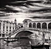 Gondolier, Rialto Bridge, Grand Canal, Venice, Italy Royalty Free Stock Image
