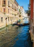 Gondolier rides gondola. Stock Images