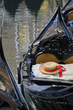 Gondolier's straw hat in boat, Venice Royalty Free Stock Photography