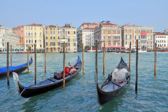 Gondolier in Venice Stock Photography