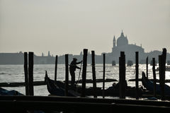 Gondolier. In Venice Royalty Free Stock Image