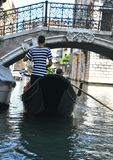 Gondolier in Venice , Italy Stock Photos