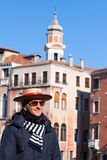 Gondolier Venice Stock Photography