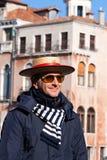 Gondolier Venice Stock Images