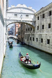 Gondolier in Venice , Italy Royalty Free Stock Images
