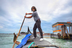 The gondolier in Venice Royalty Free Stock Photos