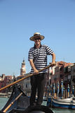 Gondolier in Venice Stock Photos