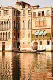 Gondolier and vintage Venice, Italy Stock Images