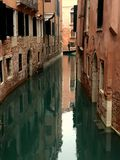 Gondolier, water reflection Royalty Free Stock Photography