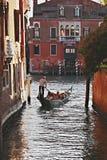 gondolier Wenecji zdjęcie royalty free