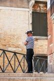 gondolier Wenecji Zdjęcia Stock