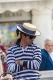 Gondoliera przystojny mężczyzna Fotografia Royalty Free