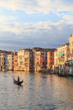 A gondoliere on canal grande Stock Photography