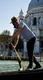 Gondoliere di Venezia Immagini Stock