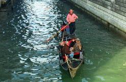 Gondoliere, Venecia, Italia Fotos de archivo libres de regalías
